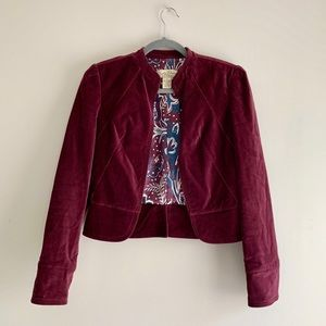 Lucky Brand • Cotton Velvet Crop Blazer